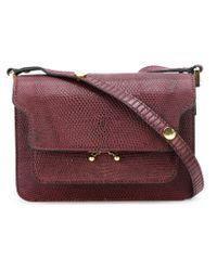 Large shoulder bag with metal ornament Marni 7KXit