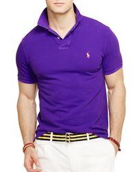Ralph Lauren - Purple Polo Neon Mesh Polo Shirt - Classic Fit for Men - Lyst