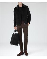 Reiss | Brown Maybury Slim-fit Chinos for Men | Lyst