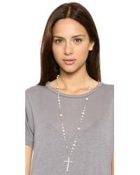 Chan Luu Cross Necklace  White Pearl