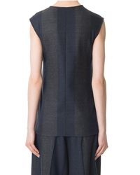 Tibi | Blue Horizon Stripe Wool Tie Top | Lyst