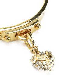Juicy Couture | Metallic Pave Heart Starter Mini Charm Bangle | Lyst
