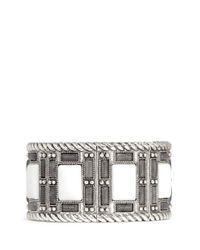Philippe Audibert | White 'Ray' Matte Rhinestone Elastic Bracelet | Lyst