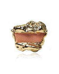 Rachael Ruddick | Metallic Cold Cast Crystal Cave Ring | Lyst