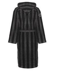 GANT | Black Hooded Stripe Bathrobe for Men | Lyst