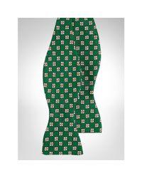 Polo Ralph Lauren - Green Silk Foulard Bow Tie for Men - Lyst