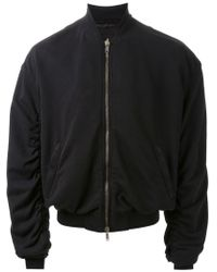 Haider Ackermann - Black Draped Bomber Jacket for Men - Lyst