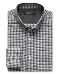 Banana Republic | Gray Tailored Slim-fit Non-iron Micro-check Shirt for Men | Lyst