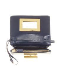 Tom Ford Blue Natalia Small Leather Shoulder Bag