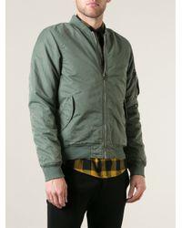 Scotch & Soda Green Classic Bomber Jacket for men