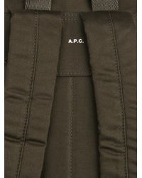 A.P.C. | Green Cotton Backpack for Men | Lyst