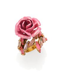 Erickson Beamon | Pink Enamel & Swarovski Crystal Urban Jungle Wrap Ring | Lyst