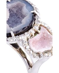 Kimberly Mcdonald - One Of A Kind Purple And Pink Triple Geode And Diamond Ring - Lyst
