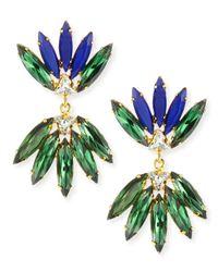 Lizzie Fortunato Blue Nude Crystal Earrings