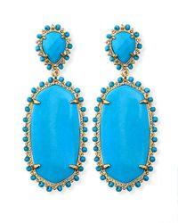 Kendra Scott | Blue Parsons Clipon Earrings Turquoise | Lyst