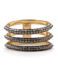 Ileana Makri | Metallic Three Band Ring | Lyst