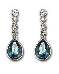 Swarovski | Blue Meringue Montana Crystal Earrings | Lyst