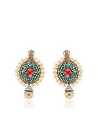 Abellan New York | Green One Of A Kind Sultan's Treasure Pendant Earrings | Lyst
