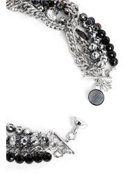 Assad Mounser | Metallic Multi Chain Strass Necklace | Lyst