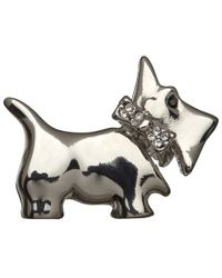 John Lewis | Metallic Glass Crystal Mini Scottie Brooch | Lyst