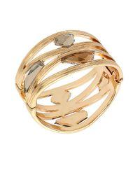 Robert Lee Morris | Metallic Faceted Stone Bangle Bracelet | Lyst