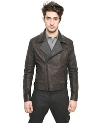 Lanvin Gray Shearling and Leather Jacket for men