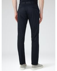 Reiss Blue Medway Slim Fit Chinos for men