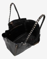 Valentino | Rockstud Medium Classic Tote: Black | Lyst