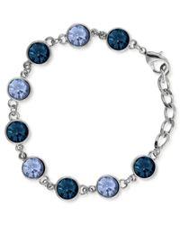 2028 - Blue Silver-tone Link Bracelet - Lyst
