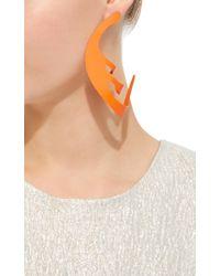 Rosie Assoulin - Roxanne Assoulin For Neon Orange Hoop Earrings - Lyst