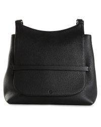 The Row - Black Saddle Leather Satchel - Lyst