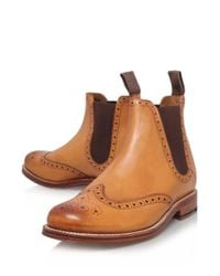 Foot The Coacher Brown Tan Jacob Wingtip Leather Chelsea Boots for men