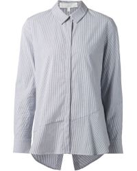 Thakoon Addition | Gray Striped Open Back Shirt | Lyst