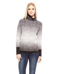 DKNY - Black Jeans Funnel Neck Tunic Sweater - Lyst