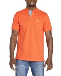 Psycho Bunny | Orange St. Bart Polo for Men | Lyst