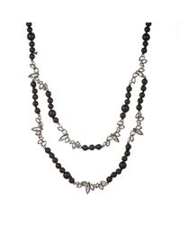 Alexis Bittar - Liquid Crystal Two Strand Black Onyx And Lava Bead Necklace You Might Also Like - Lyst