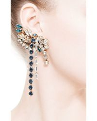 Bijoux Heart - White Large Swarovski-Crystal Right Ear Cuff - Lyst