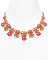 Carolee | Red Croquet Frontal Necklace 16 | Lyst