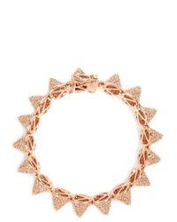 Eddie Borgo - Metallic Rose Tone Crystal Embellished Cone Bracelet - Lyst