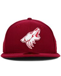 KTZ | Red Arizona Coyotes C-dub 59fifty Cap for Men | Lyst
