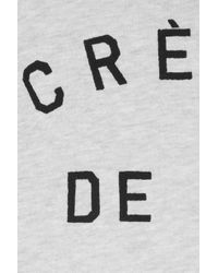 Zoe Karssen - Gray Crème De La Crème Cottonblend Terry Sweatshirt - Lyst