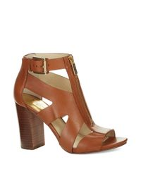 MICHAEL Michael Kors | Brown Anya Open Toe Sandals | Lyst
