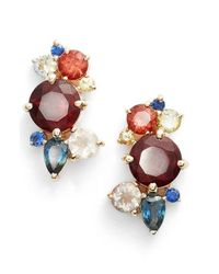 Mociun | Multicolor Oregon Sunstone & Sapphire Earrings | Lyst