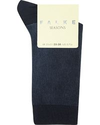 Falke | Blue Fine Shadow Socks, Women's, 6129 Marine | Lyst