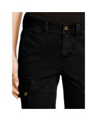 Polo Ralph Lauren - Black Stretch Twill Cargo Pant - Lyst
