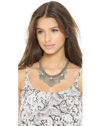 DANNIJO Metallic Langley Necklace - Silver/Crystal