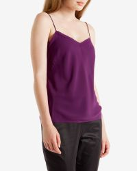 Ted Baker | Purple Scalloped Edge Cami Top | Lyst