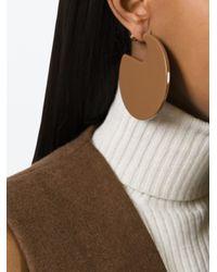 Marni | Brown 'runway' Hoop Earrings In Resin | Lyst