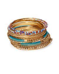 R.j. Graziano Multicolor Bangle Bracelet Set