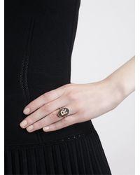 Carolina Bucci Multicolor 18Kt Sandblasted Rose Gold Letter Ring
